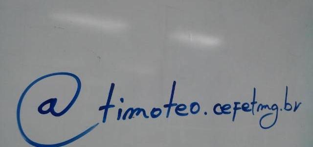Quadro com @timoteo.cefetmg.br